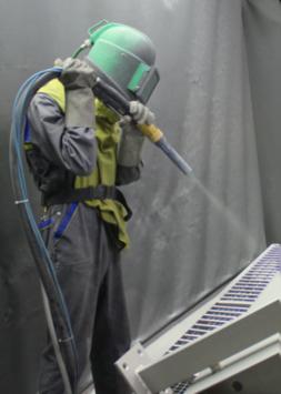 Servicio de arenado con microesfera de vidrio glass blasting en peru